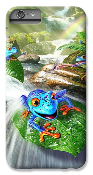 Frogs iPhone 6s Plus Case - Frog Capades by Jerry LoFaro