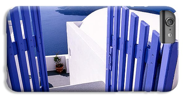 Greece iPhone 6s Plus Case - Gate At The Terrace Of A House by Panoramic Images