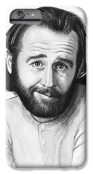 George Carlin Portrait IPhone 6s Plus Case by Olga Shvartsur