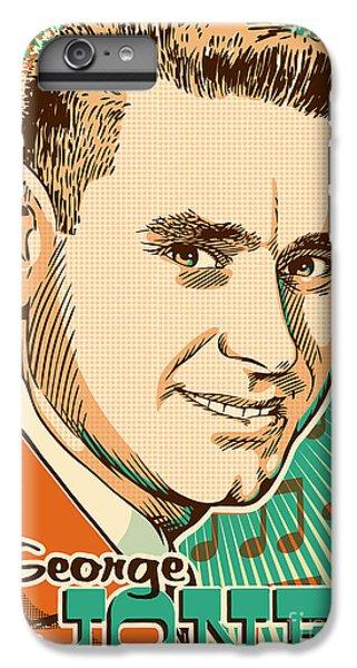 George Jones Pop Art IPhone 6s Plus Case by Jim Zahniser