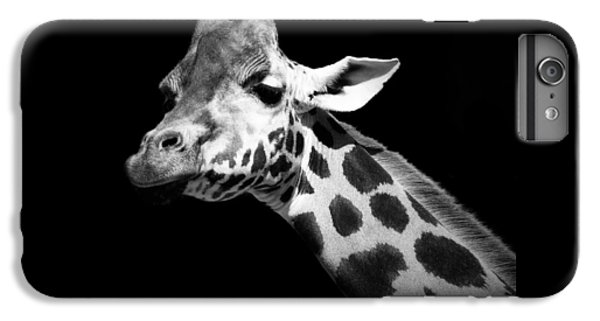 White iPhone 6s Plus Case - Portrait Of Giraffe In Black And White by Lukas Holas
