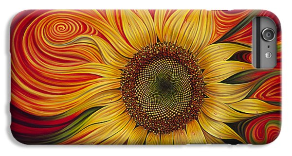 Sunflower iPhone 6s Plus Case - Girasol Dinamico by Ricardo Chavez-Mendez
