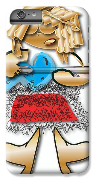 IPhone 6s Plus Case featuring the digital art Girl Rocker 6 String Guitar by Marvin Blaine