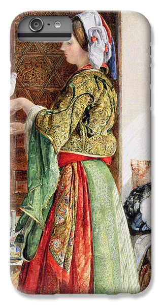 Girl With Two Caged Doves, Cairo, 1864 IPhone 6s Plus Case by John Frederick Lewis