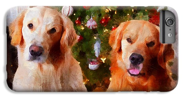 Golden Christmas IPhone 6s Plus Case by Claire Bull