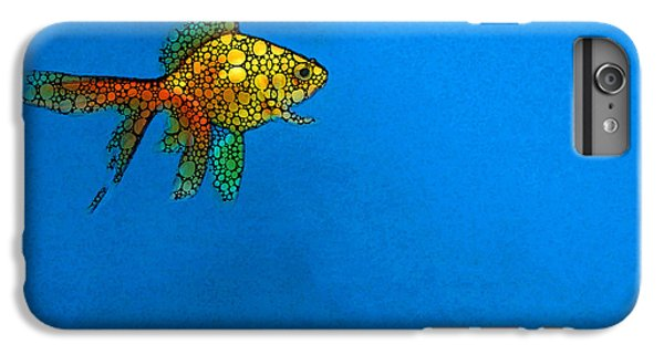 Goldfish Study 4 - Stone Rock'd Art By Sharon Cummings IPhone 6s Plus Case by Sharon Cummings