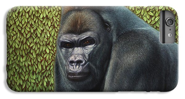 Ape iPhone 6s Plus Case - Gorilla With A Hedge by James W Johnson
