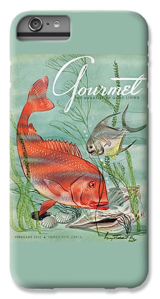 Gourmet Cover Featuring A Snapper And Pompano IPhone 6s Plus Case by Henry Stahlhut