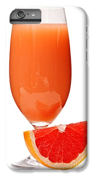 Grapefruit Juice In Glass IPhone 6s Plus Case by Elena Elisseeva
