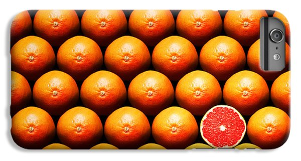 Grapefruit iPhone 6s Plus Case - Grapefruit Slice Between Group by Johan Swanepoel