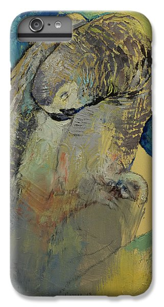 Macaw iPhone 6s Plus Case - Grey Parrot by Michael Creese