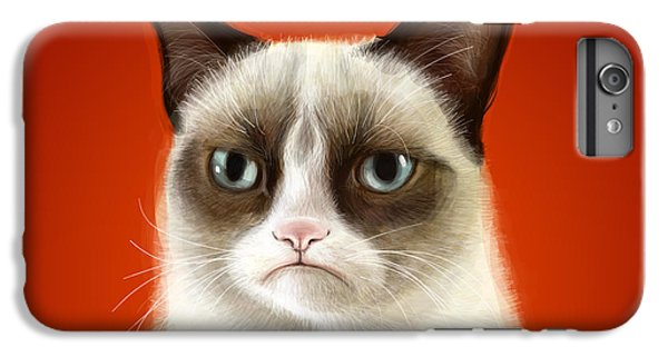 Grumpy Cat IPhone 6s Plus Case by Olga Shvartsur