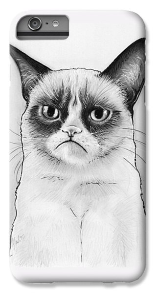 Grumpy Cat Portrait IPhone 6s Plus Case by Olga Shvartsur