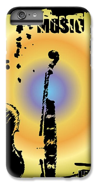 Drum iPhone 6s Plus Case - Grunge Background Vector by Ozkan