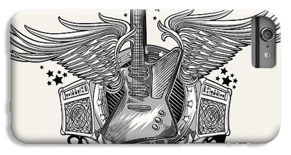 Space iPhone 6s Plus Case - Guitar Emblem by Alex bond