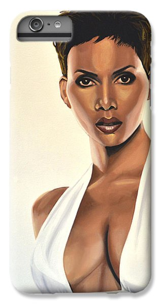 Halle Berry Painting IPhone 6s Plus Case by Paul Meijering