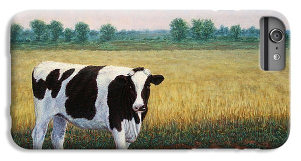 Cow iPhone 6s Plus Case - Happy Holstein by James W Johnson