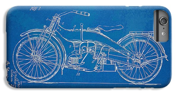 Motorcycle iPhone 6s Plus Case - Harley-davidson Motorcycle 1924 Patent Artwork by Nikki Marie Smith