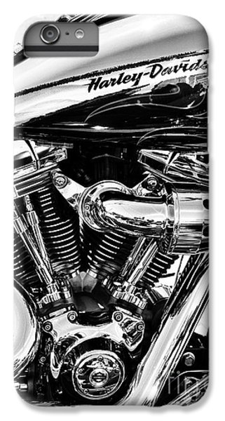 White iPhone 6s Plus Case - Harley Monochrome by Tim Gainey