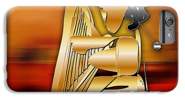 IPhone 6s Plus Case featuring the digital art Harp Player by Marvin Blaine
