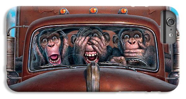 Truck iPhone 6s Plus Case - Hear No Evil See No Evil Speak No Evil by Mark Fredrickson