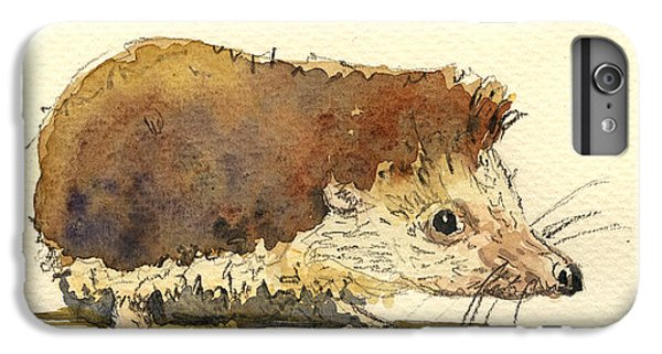 Mice iPhone 6s Plus Case - Hedgehog by Juan  Bosco