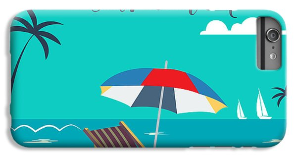 Hot iPhone 6s Plus Case - Hello Summer Poster. Tropical Beach by Ivector