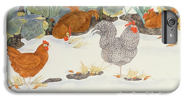 Hens In The Vegetable Patch IPhone 6s Plus Case by Linda Benton