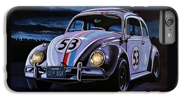 Beetle iPhone 6s Plus Case - Herbie The Love Bug Painting by Paul Meijering