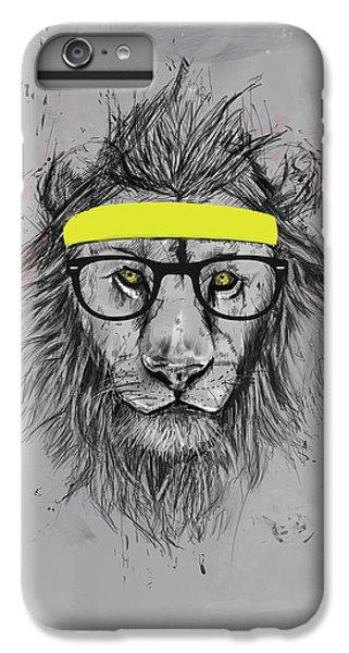 Lion iPhone 6s Plus Case - Hipster Lion by Balazs Solti