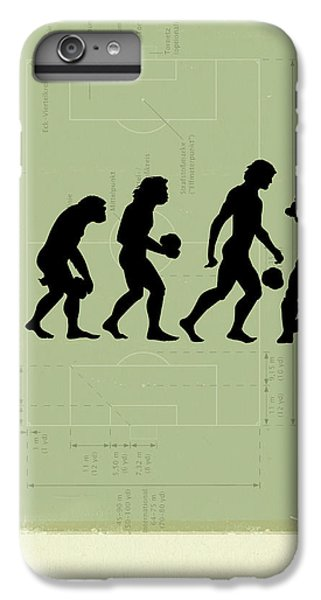 Soccer iPhone 6s Plus Case - Human Evolution by Smetek