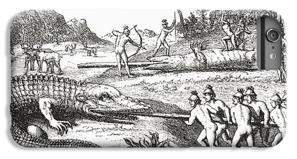 Hunting Alligators In The Southern States Of America IPhone 6s Plus Case by Theodor de Bry