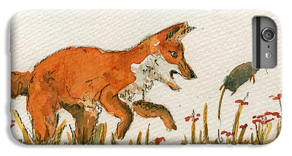 Mice iPhone 6s Plus Case - Hunting Red Baby Fox by Juan  Bosco