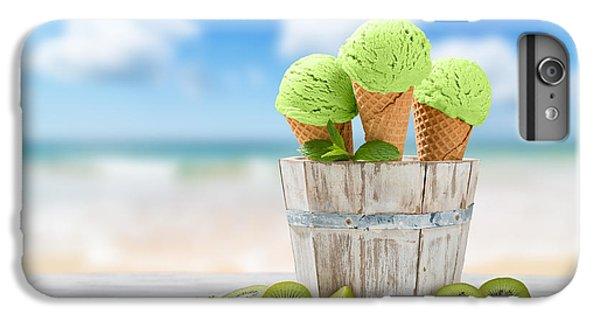 Kiwi iPhone 6s Plus Case - Ice Cream At The Beach by Amanda Elwell