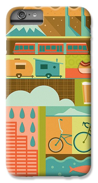 Salmon iPhone 6s Plus Case - Iconic Portland by Mitch Frey
