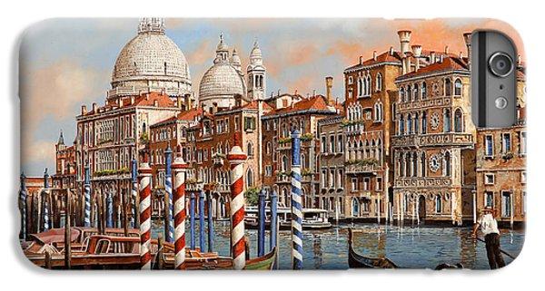 Boat iPhone 6s Plus Case - Il Canal Grande by Guido Borelli