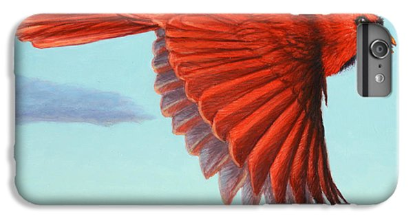 Cardinal iPhone 6s Plus Case - In Flight by James W Johnson