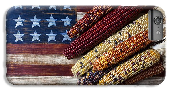 Indian Corn On American Flag IPhone 6s Plus Case