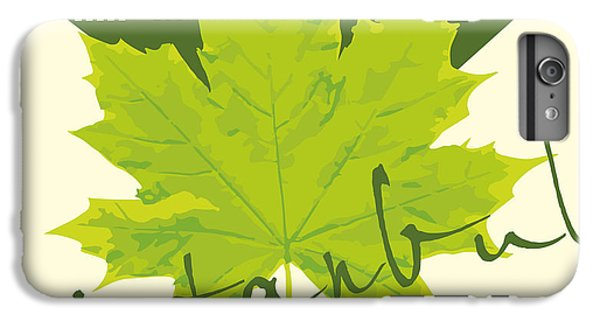 Castle iPhone 6s Plus Case - Istanbul City And Sycamore Leaf Vector by A1vector