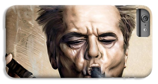 Celebrities iPhone 6s Plus Case - Jack Nicholson by Andrzej Szczerski