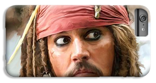 Jack Sparrow IPhone 6s Plus Case by Paul Tagliamonte