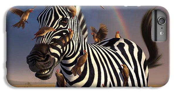 Zebra iPhone 6s Plus Case - Jailbird by Jerry LoFaro