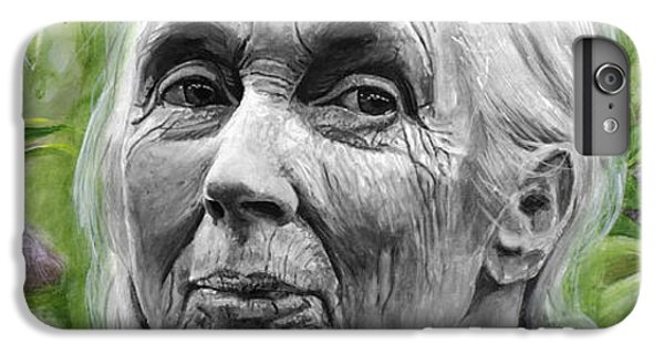 Jane Goodall IPhone 6s Plus Case by Simon Kregar