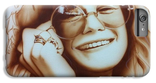 Janis Joplin - ' Janis ' IPhone 6s Plus Case by Christian Chapman Art