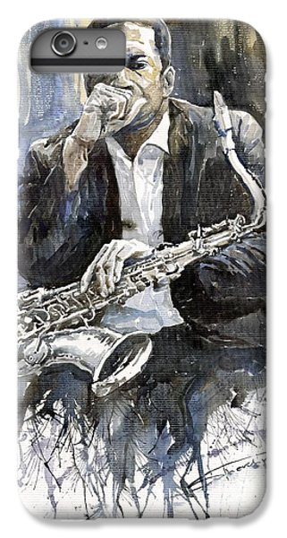 iPhone 6s Plus Case - Jazz Saxophonist John Coltrane Yellow by Yuriy Shevchuk