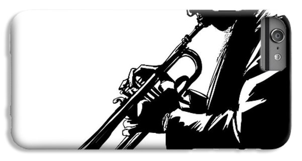 Trumpet iPhone 6s Plus Case - Jazz Trumpet Player-vector Illustration by Isaxar