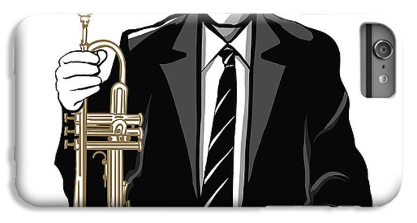 Trumpet iPhone 6s Plus Case - Jazz Trumpet Player - Vector by Isaxar