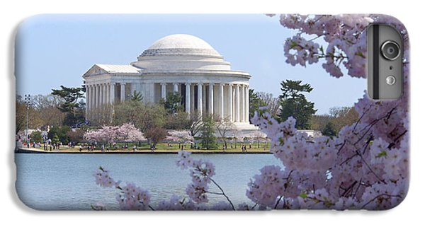 Jefferson Memorial iPhone 6s Plus Case - Jefferson Memorial - Cherry Blossoms by Mike McGlothlen