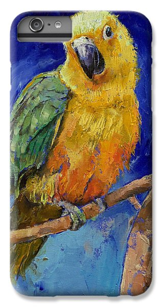Macaw iPhone 6s Plus Case - Jenday Conure by Michael Creese