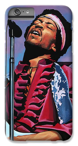 Knight iPhone 6s Plus Case - Jimi Hendrix 2 by Paul Meijering